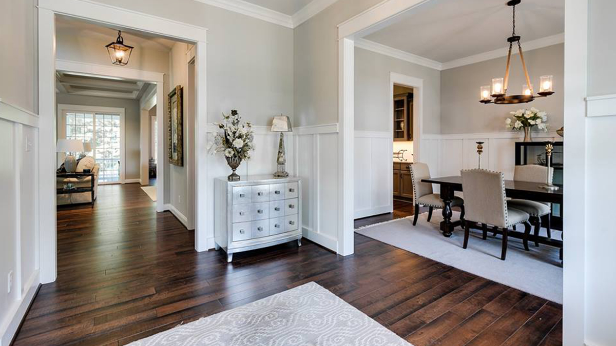 Gleaming new hardwood floor in gorgeous Richmond home