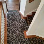 Custom stair runner over hardwood staircase near Lakeside, VA