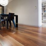 Resilient flooring in dining room near Raleigh