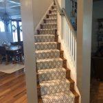 White patterned stair runner over hardwood | Colonial Heights, VA